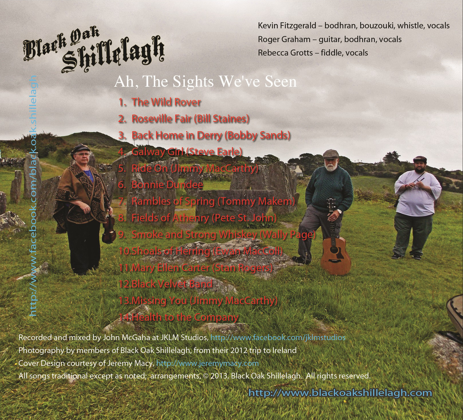 Back cover of Ah, The Sights We've Seen CD